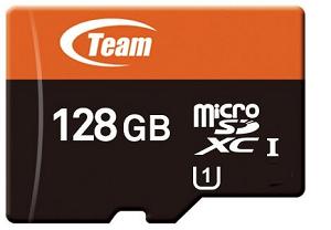 128GBのmicroSDカードの画像