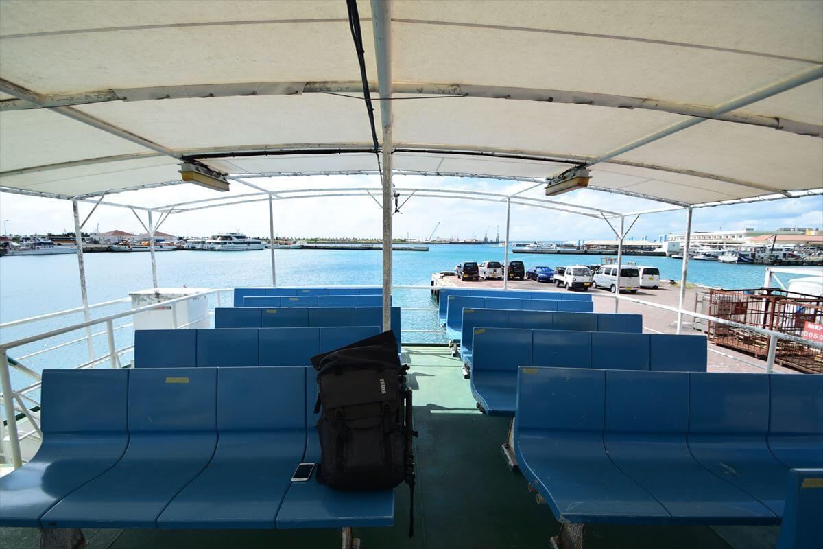 石垣-西表間で運航している安栄観光の貨客船「ぱいかじ」の写真画像
