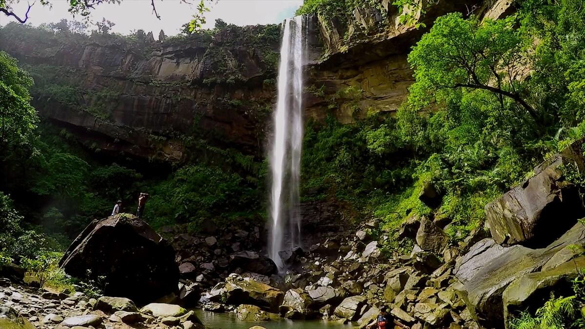 西表の「ピナイサーラの滝」の写真