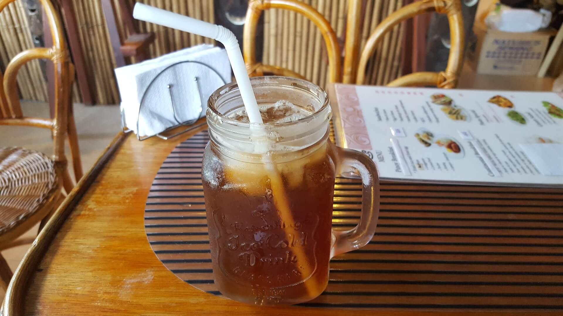 エルニドのカフェDelinido Coffeehouseで飲んだお茶の写真