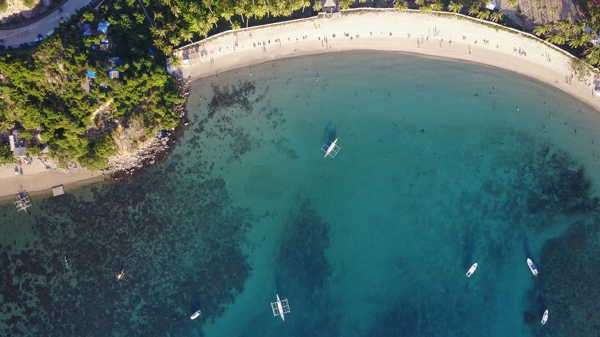 ラスカバナスビーチのMavicドローン空撮写真