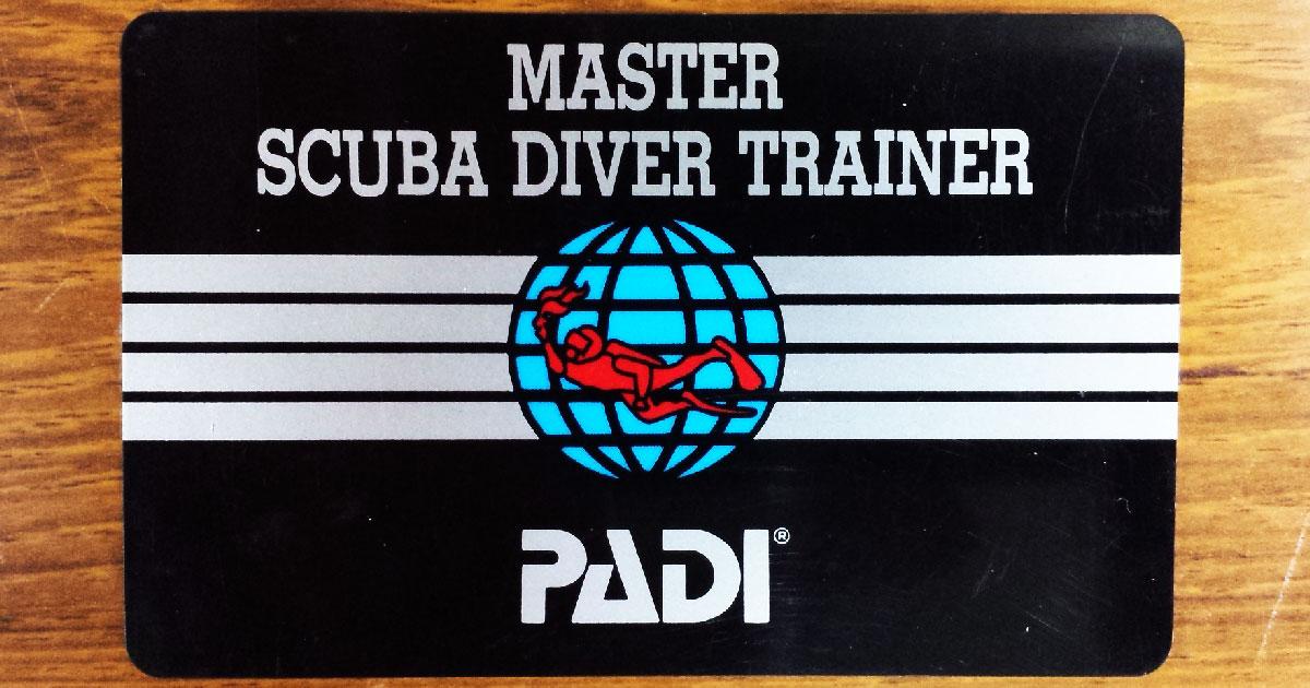 マスター・スクーバ・ダイバー・トレーナー(Cカード/MSDT)の画像