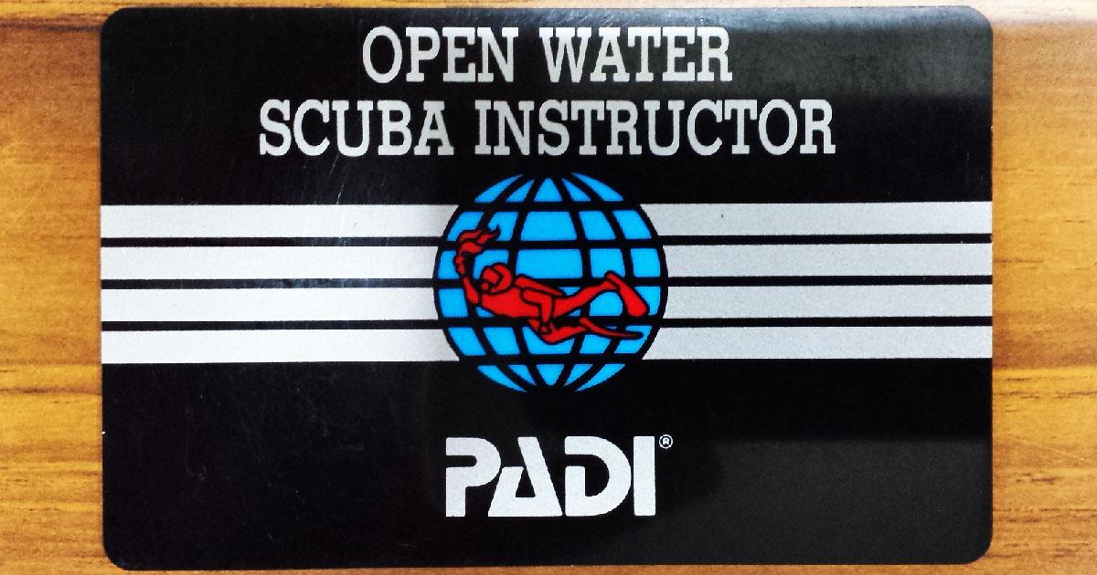 オープン・ウォーター・スクーバ・インストラクター(Cカード/OWSI)の画像