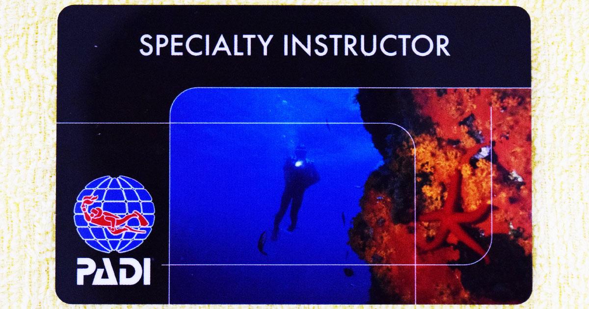 スペシャルティ・インストラクター(Cカード/SP-I)の画像