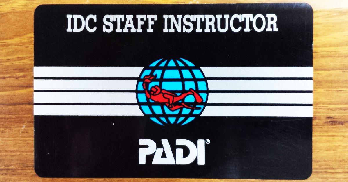 IDCスタッフ・インストラクター(Cカード/SI)の画像
