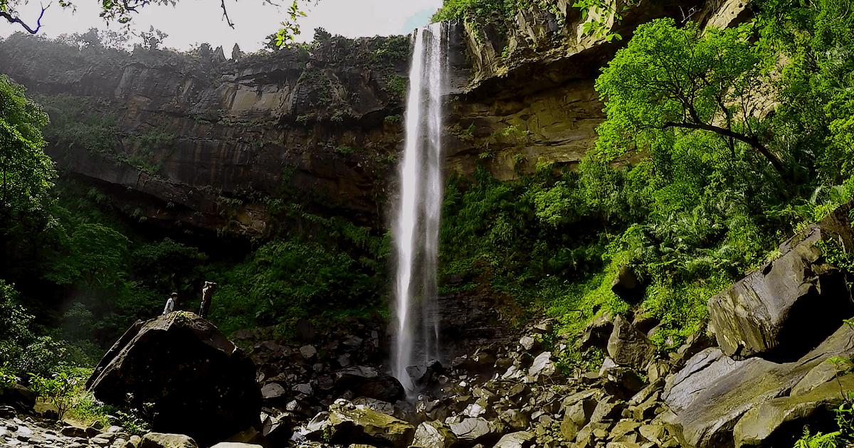 西表ジャングルにあるピナイサーラの滝の写真