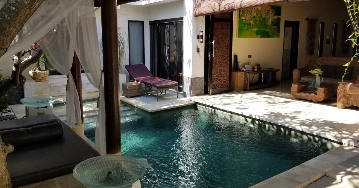 バリ島ダイビング旅行で泊まったヴィラの写真